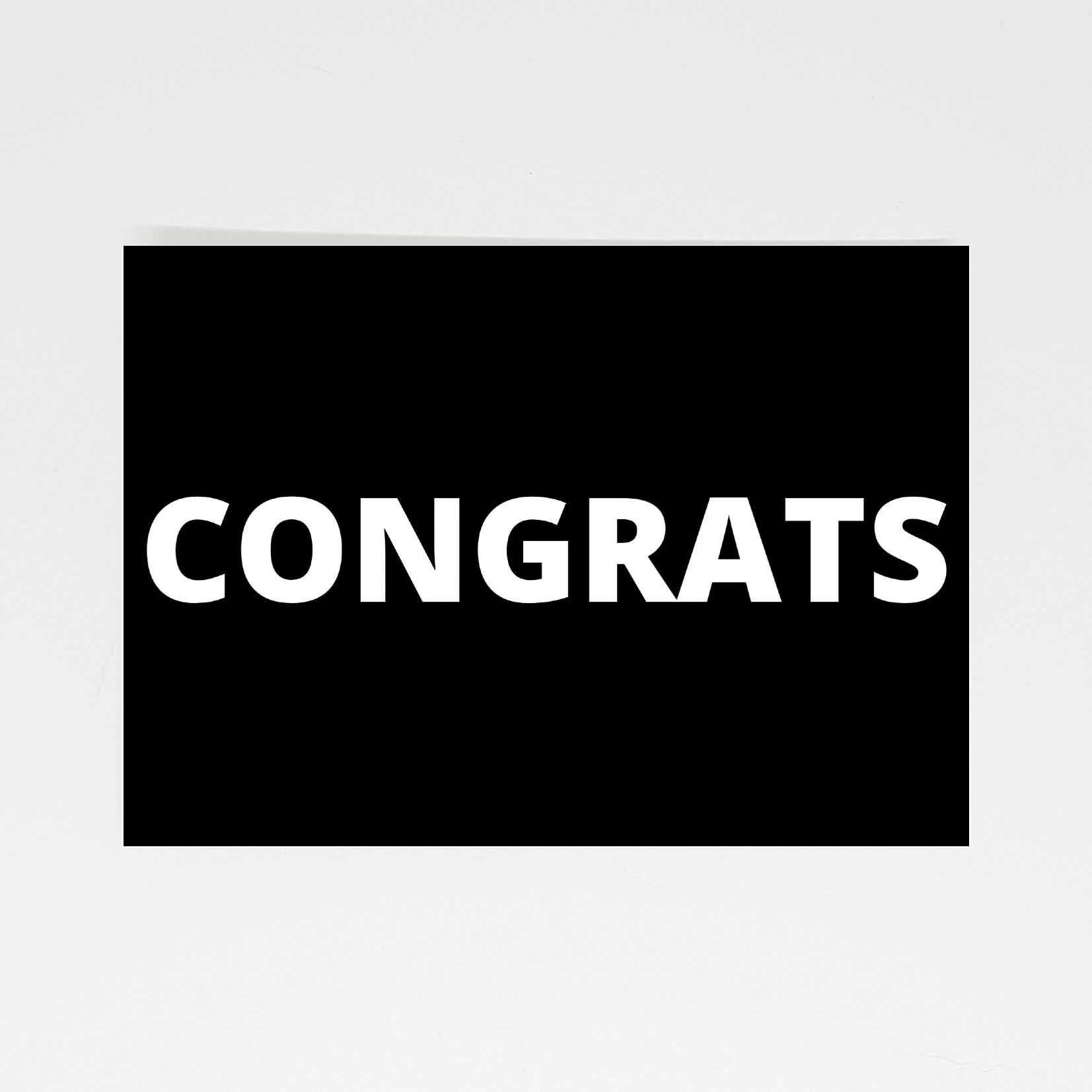 ansichtkaart congrats gefeliciteerd