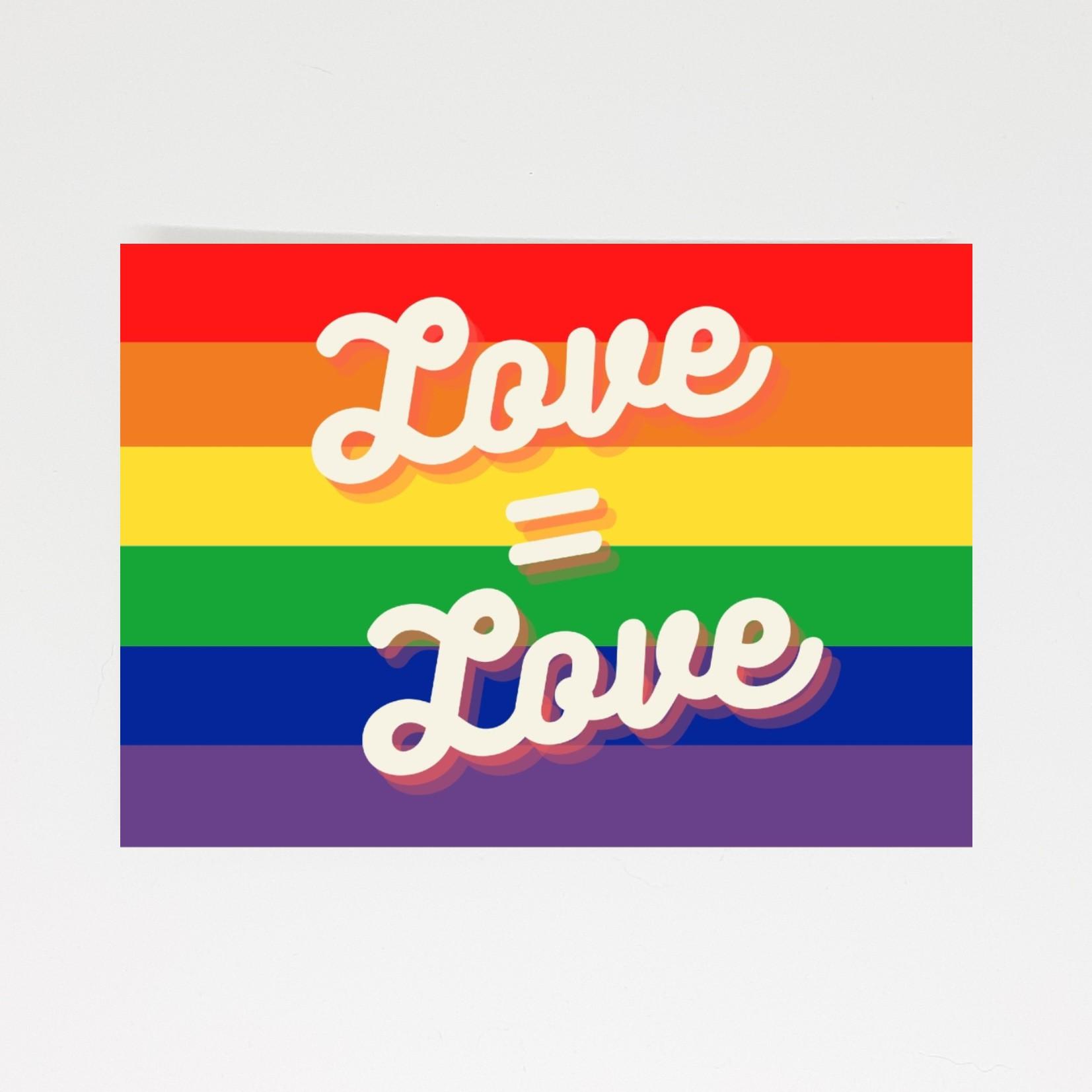 pride kaart love is love