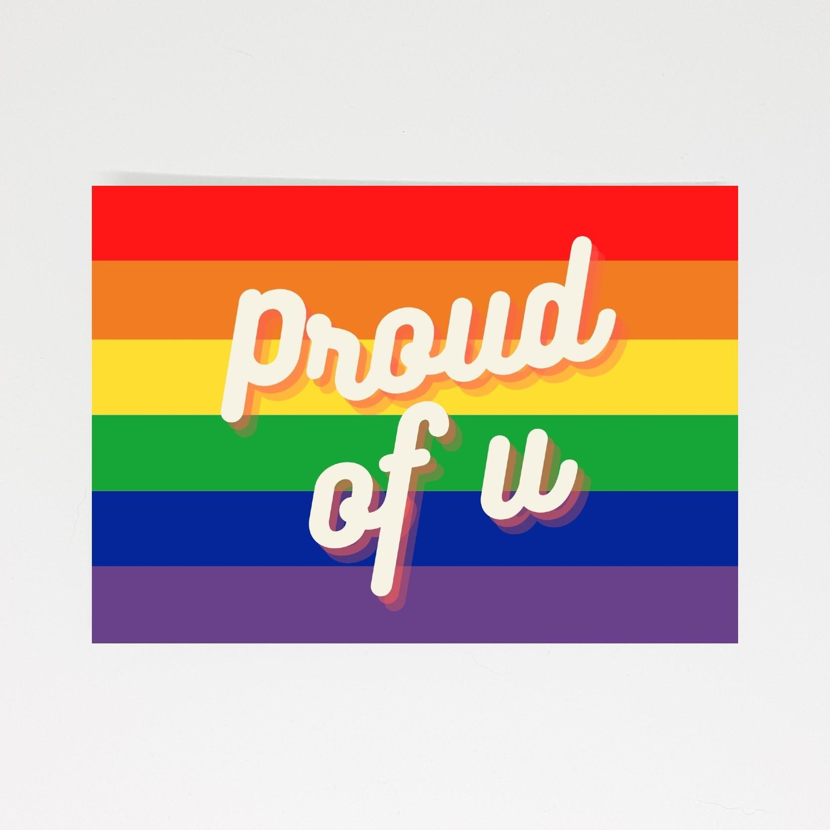 pride kaart proud of u