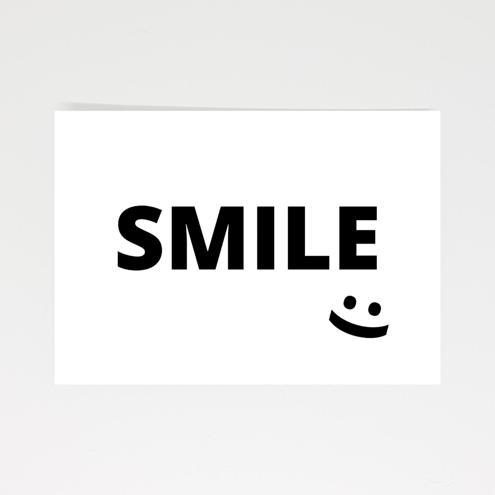 ansichtkaart smile