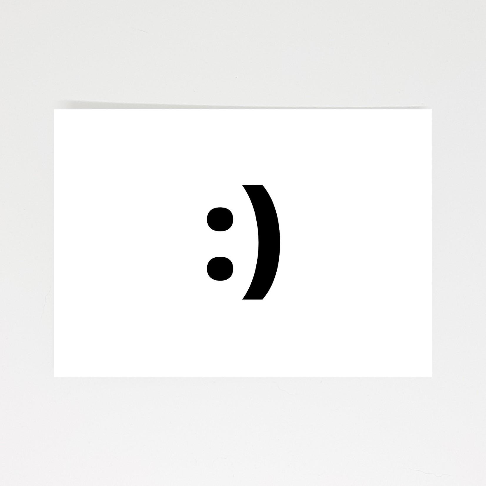 ansichtkaart smiley
