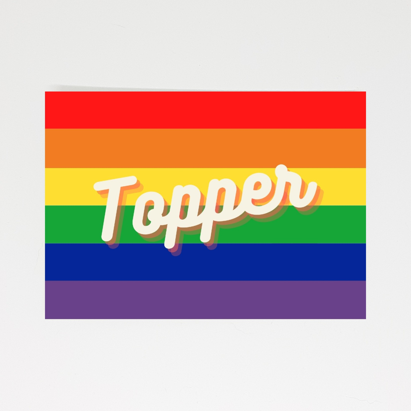 pride kaart topper compliment