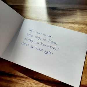 Een Handgeschreven Kaartje